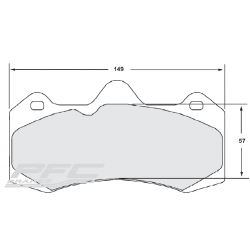 PFC Performance Friction Brake Pads Evora GT4