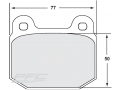 PFC Performance Friction Brake Pads Lotus Elise, Exige